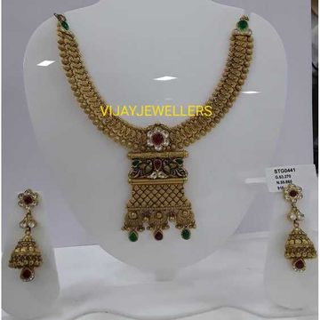 916 Antique Gold Jadtar Jewellery by
