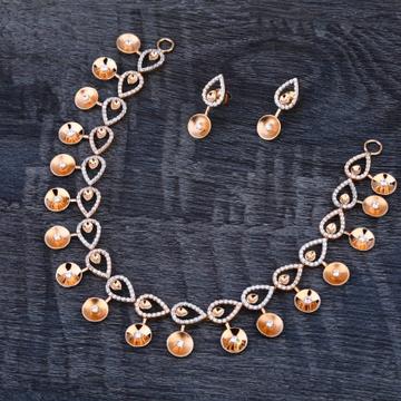 750 Rose Gold Ladies Delicate Necklace set RN344