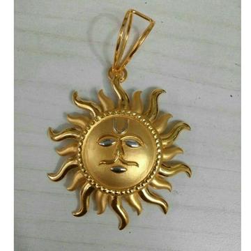 22K / 916 Gold Gents Sun Shaped Yellow Pendant