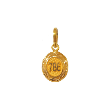 18K Gold Oval Shaped Pendant MGA - PDG0195