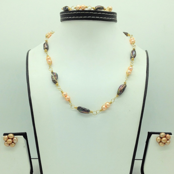 Freshwater Multicolour KudkalPearls Set in Wire M...
