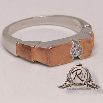 92.5 silver Rose shaining Gents ring Rh-Gr935