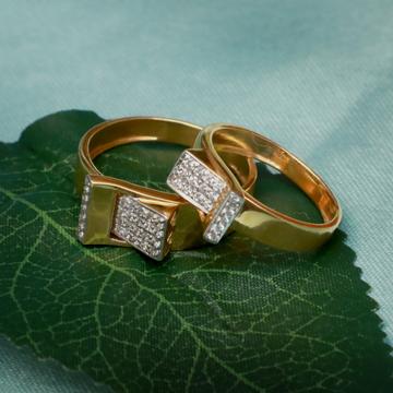 916 Gold Designer Couple ring PJ-R011