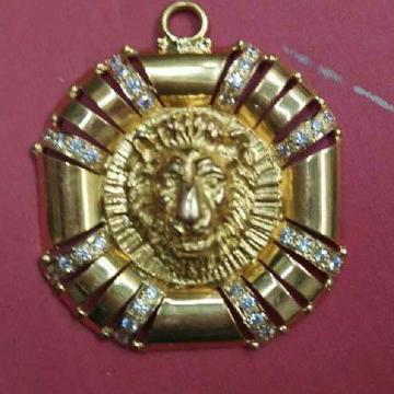 22KT Gold Casting Handmade Lions Pendant