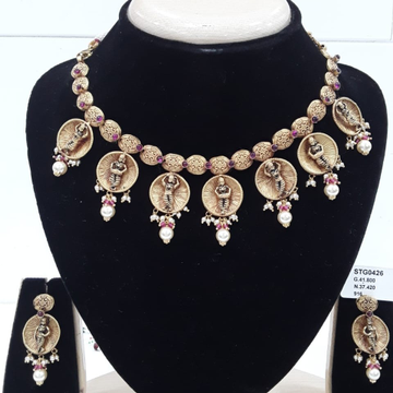 22KT yellow Gold Temple Collection jewellery For Women