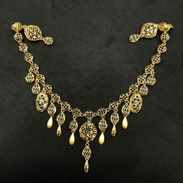 22K Gold Antique Turkish Design Necklace Set by