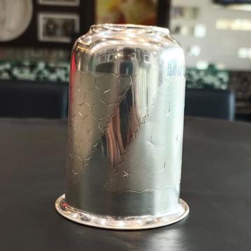 silver naksi design glass by