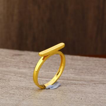 Ladies 916 Gold Fancy Plain Band Ring -LPR158