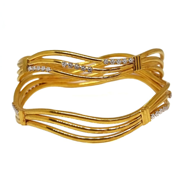 1 Gram Gold Forming Fancy Kadli Bangles MGA - KDE0029