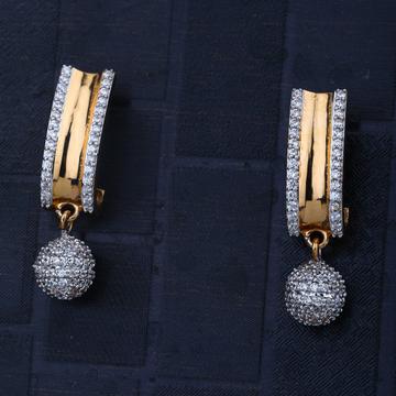 916 Gold Unquie Design Earring