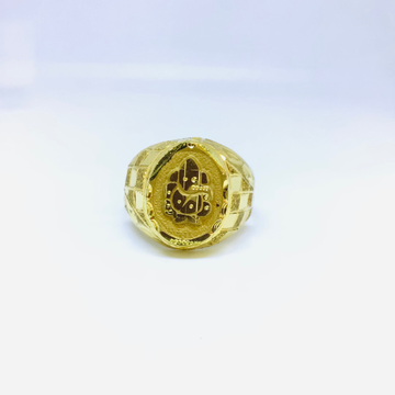 BRANDED FANCY GOLD RING by