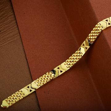 Mens Gold Plain 916 Cartier Bracelet-MCRB18