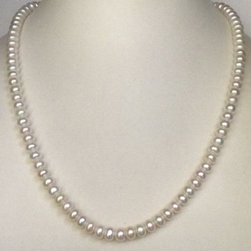 Freshwater White Flat Pearls Strand