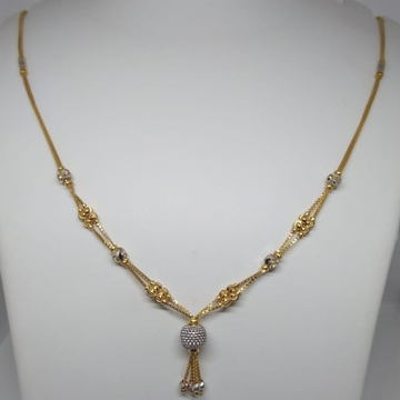 916 gold rodium chain by