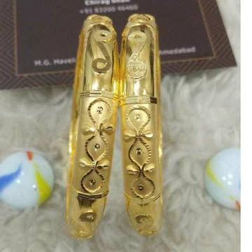 Gold Patla Bangle Attractive Dijain by