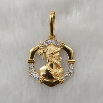 916 Gold Fancy Gent's Shivaji Maharaj Pendant