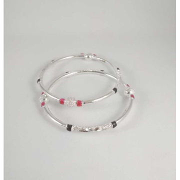 Silver Fancy Bangles. NJ-B01049