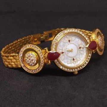 22 KT Gold Branded Ladies Watch by