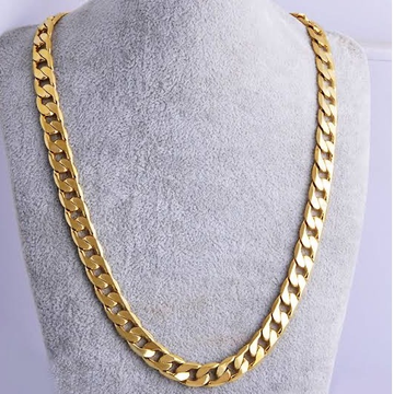 22kt gold fancy cut chunky chain for men jkc004