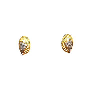 22K Gold Heart Shaped Earrings MGA - BTG0481