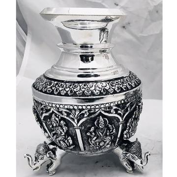 92.5 pure silver Astha lakshmi vase with hathi leg...