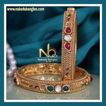 916 Gold Antique Bangles NB - 741
