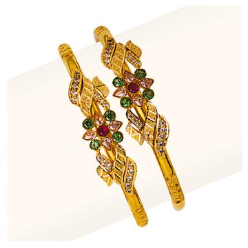 916 Gold Fancy Cross Pipe Copper Kadli RJCP-061