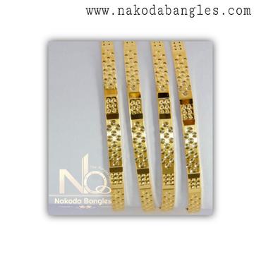 916 Gold Khilla Bangles NB - 1386