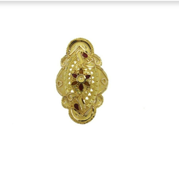 22 k light weight yellow gold ladies ring rj-lrg-008