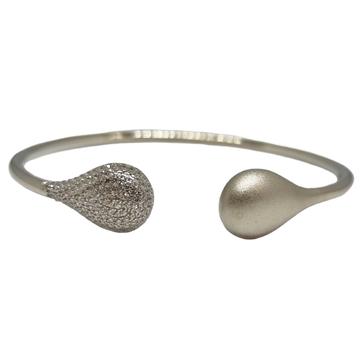 925 Sterling Silver Matte Finish Modern Bracelet M...