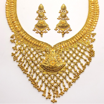 Gold jewellery set for bridal sk - gb002 by