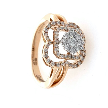 18kt / 750 Rose Gold Simple Diamond Ladies Ring 9LR353