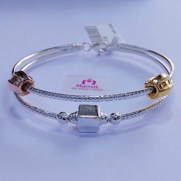 92.5 sterling silver Italian style Kada bracelet ML-89