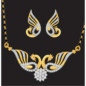 916 Gold Peacock Design Mangalsutra JJ-M13 by