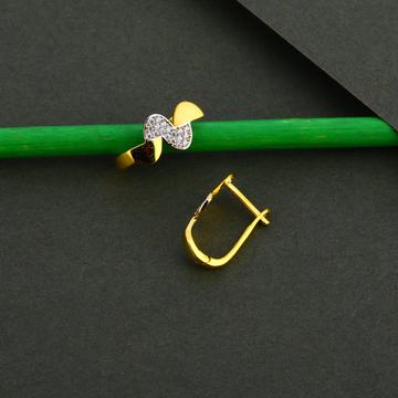 750 Gold Cz Hallmark Earring  Bali LFB137