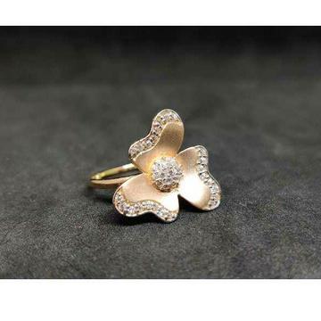 18k Ladies Fancy Rose Gold Ring R-23026