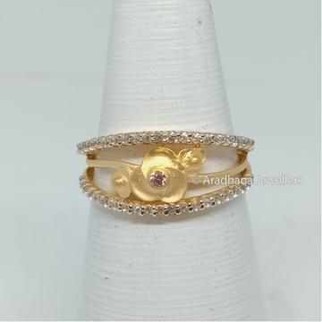 22K Gold Flower Design Casting Ring