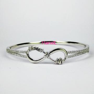 92.5 sterling silver cz stone Kada bracelet ML-79