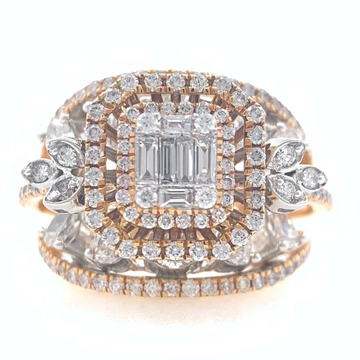 18kt / 750 rose gold cocktail party diamond ladies...