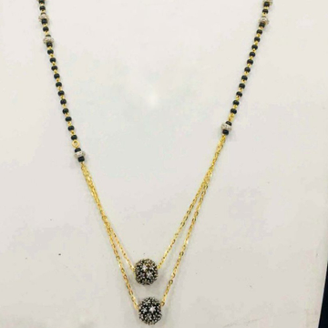 22KT/916 Gold fancy double black Boll pendant mang... by