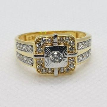 Square rhodium ring