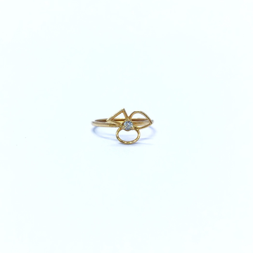 REAL DIAMOND FANCY ROSE GOLD RING by