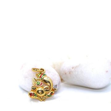22KT /916 Gold Plain Ganpatiji casual Ware For Men... by