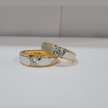 22 carat 916 fancy diamond couple ring by Parshwa Jewellers