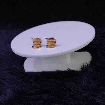 18KT/750 Rose Gold Curve Earrings For Women