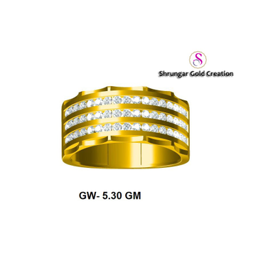 916 Gold Wedding Gents Diamond Ring by