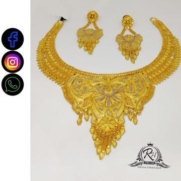 22 carat gold fancy necklace set RH-NS401