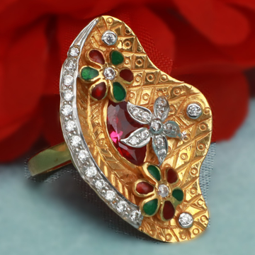 916 Gold Traditional Ring For Women PJ-R014