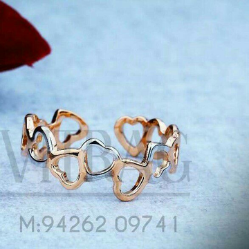 18kt Heart Shape Rose Gold Ladies Ring LRG -0726