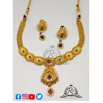 22 carat gold antic daimond ladies set RH-ST092